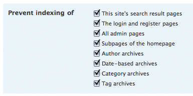 Noindex, nofollow для архива