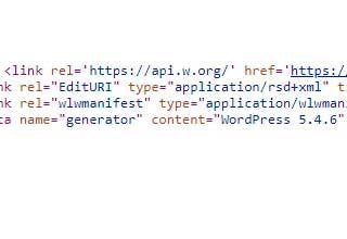 RSS и generator WordPress